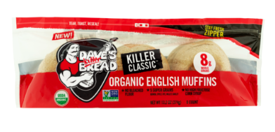 Dave's Killer Bread English muffin package